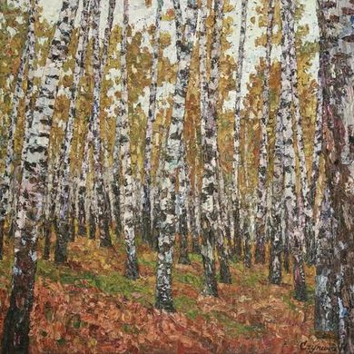 Birches 2008 80x100 oil canvas