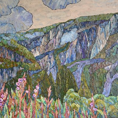 High in the mountains 2014 73x92 oil canvas