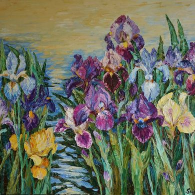 Irises 2015 80x100 oil canvas