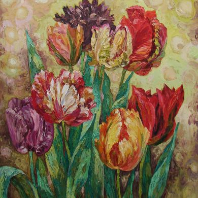 Tulips 92x73 oil canvas 2015