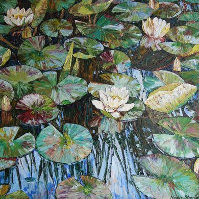 White water lilies 2012 80x101 oil canvas
