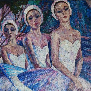 Ballerins 2009 80x100 oil canvas