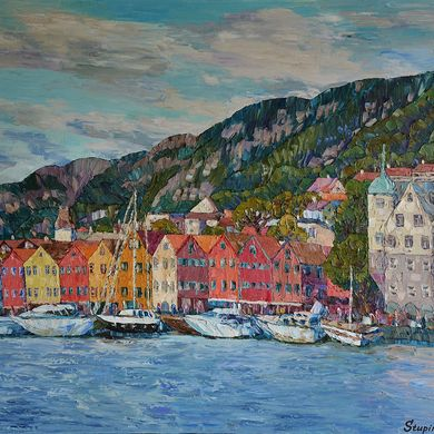 Bergen 2014 73x92 oil canvas