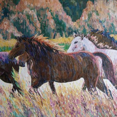 Horses 2013 80x101 oil-canvas