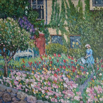 In the garden 2013 70x70 oil canvas