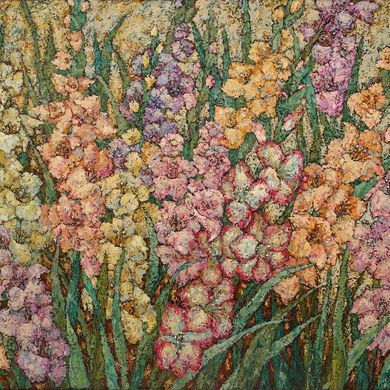 2007-069, Gladioluses, 2007, 100х120, Oil-canvas