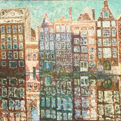 2008-9913, Windows of Amsterdam, 2008, 80х100, Oil-canvas