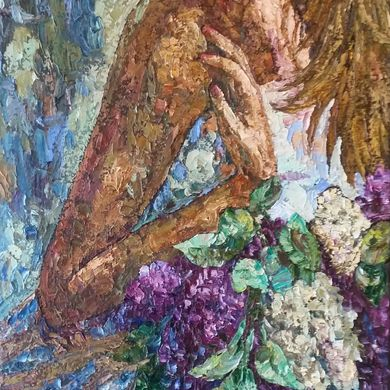 The smell of lilac 2016 100x50 oil canvas