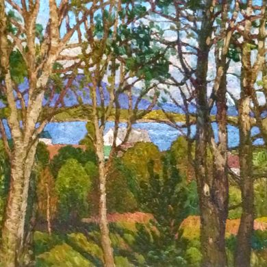 Trees on the Lofoten islands 2014 70x100 oil cardboard (2)