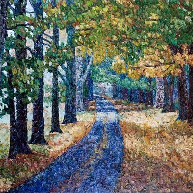 2008-1161, Road to autumn, 2008, 80х100, Oil-canvas