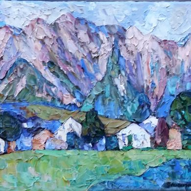 In the foot of the Alps 2017 30x40 oil canvas